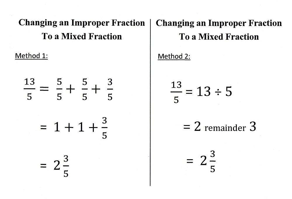 Basic Math - Types of Fractions - 100.1KB