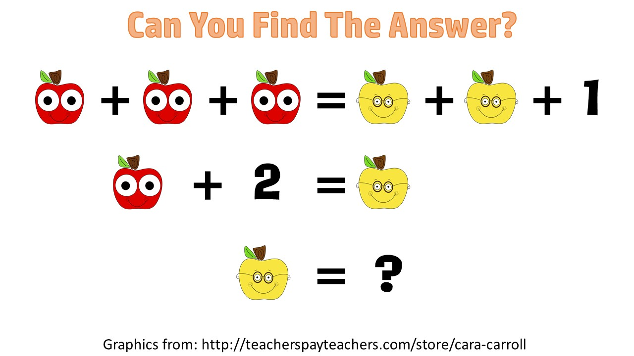 Math Puzzles on Kindergarten Math Worksheets
