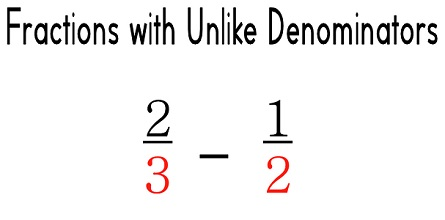 how to solve unlike fractions examples