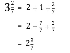 Subtracting a fraction from a mixed number reduce the whole number by 1 change the 1 into a fraction to add to its original fraction now you have a new mixed number with an improper fraction ccuart Gallery